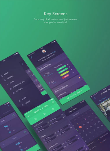 mobile screen application